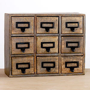 9-Drawer Library Chest   Home Office Accessories  Accessories   World Market