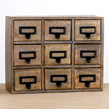 9-Drawer Library Chest | Home Office Accessories| Accessories | World Market