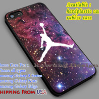 Basketball Air Jordan on Space iPhone 6s 6 6s+ 6plus Cases Samsung Galaxy s5 s6 Edge+ NOTE 5 4 3 #sport dl2