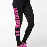 SPORTY PRINTED TIGHTS - 'WORK IT' LEGGINGS