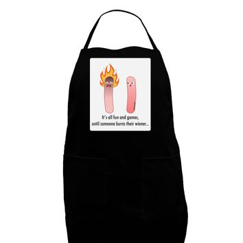 It's All Fun and Games - Wiener Panel Dark Adult Apron by TooLoud