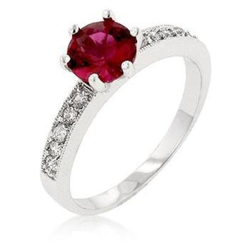 WildKlass Petite Garnet Red Engagement Ring