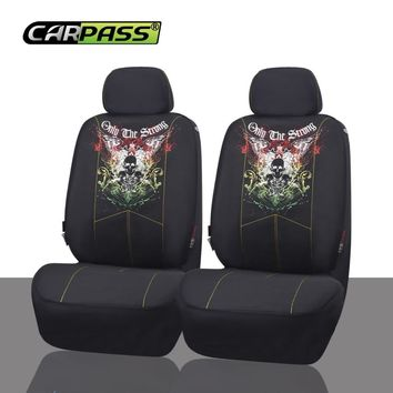 Scorpion Skull Design Car Seat Covers Mesh Fabric Auto Interior Styling Decoration Protector Seat Covers