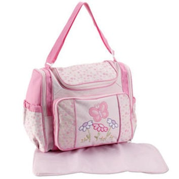 Walmart: Baby Connection - Pink Butterfly Diaper Bag