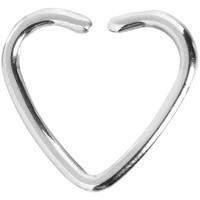 Stainless Steel Hollow Heart Closure Daith CartilageTragus Earring | Body Candy Body Jewelry