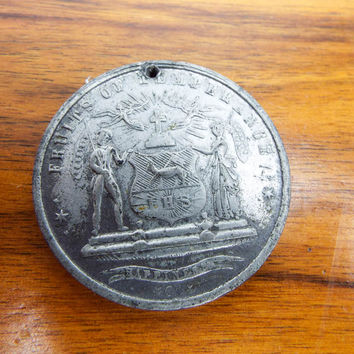 Antique Roman Catholic P Hennebery Total Abstinence Pledge Coin