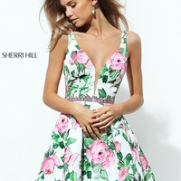 Sherri Hill 50498 Floral Print Dress | RissyRoos.com