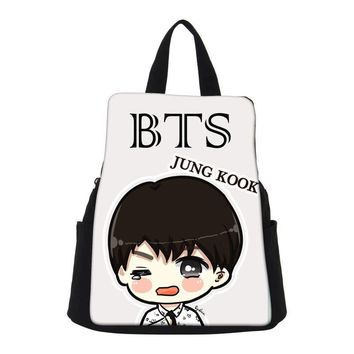 VEEVANV Kpop Punk Kids Canvas Backpack Girls Korean School Bags For Women Mochila Bts Laptop Backpacks Men Printing Travel Bag