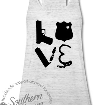 Love Police Gear Square Top - Southern Charm Designs