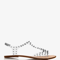 Spiked Clear Sandals