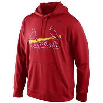 St Louis Cardinals Nike MLB Red Fastball Fleece Pullover Hoodie
