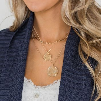 Layering 2-Coin Necklace- Gold