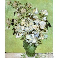 A Vase of Roses, c.1890 Art Print by Vincent van Gogh at Art.com