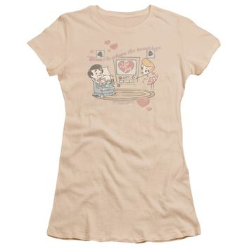 I Love Lucy - Home Is Where The Heart Is Premium Bella Junior Sheer Jersey