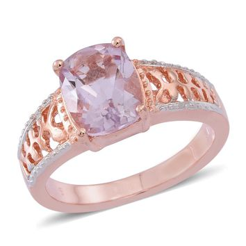 Rose De France Amethyst Rose Gold Ring