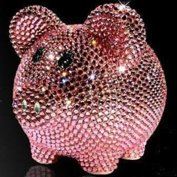 Swarovski Rhinestone Piggy Bank, Bling Piggy Bank