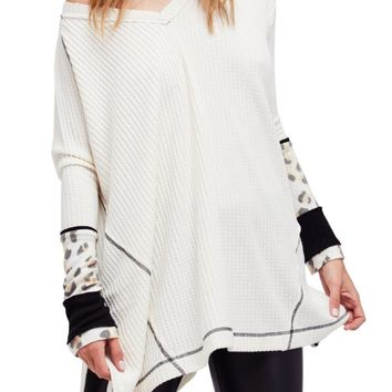 Free People Lovin Leopard Thermal Top