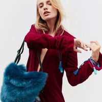 Free People Faux Fur Convertible Backpack