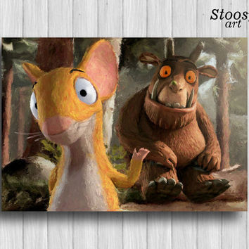 gruffalo poster childrens print nursery decor kids wall art