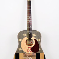 "Acoustic Guitar, Modified ""Saturn Calling"" Altered, Playable Art Instrument"
