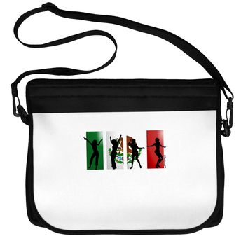Mexican Flag - Dancing Silhouettes Neoprene Laptop Shoulder Bag by TooLoud