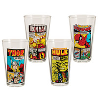 Marvel Comics set of 4 16oz. Drinking Glasses