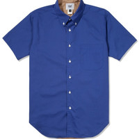 Mark McNairy Royal/Tan SS Reversible BD Shirt |  Hypebeast Store