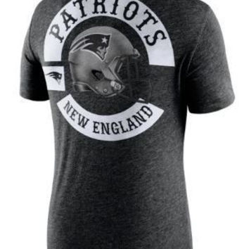 NFL New England Patriots Mens Nike Helmet Tri-Blend T-Shirt