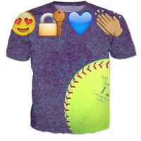 Softball shirt with Emoji's
