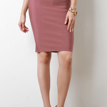 High Waisted Bandage Pencil Skirt | UrbanOG