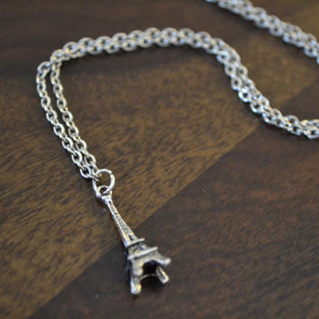 SALE Eiffel Tower Pendant Necklace