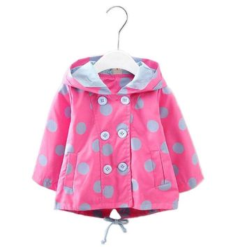 2017 Trench Coat for girls New Baby Girl Trench Coats Children Long Sleeve Outwear Kids Jackets Fashion Overcoat Sport Cloth