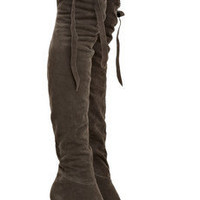 Camilla Skovgaard Nubuck wedge thigh boots - 60% Off Now at THE OUTNET