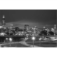 Chicago Black and White Poster Dorm Room Products College Supplies Cool Wall Decor For College