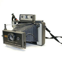 Vintage Camera with Expanding Bellows Polaroid Automatic Land Camera 420 Photographer Collectible Movie Prop 1970s