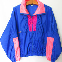 Vintage 1980s Neon Columbia Windbreaker Jacket