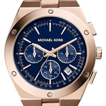 Women's Michael Kors 'Reagan' Chronograph Bracelet Watch, 42mm - Rose Gold