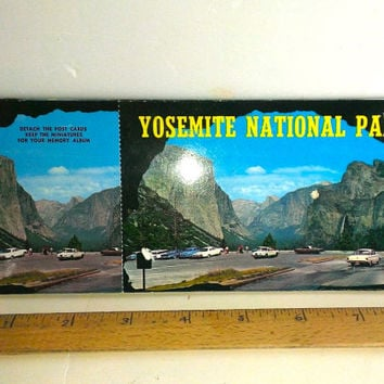 Vintage Pack Of 10 Yosemite National Park Postcards 1960s Souvenir Some Wear On 1st Postcard