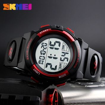 New 2017 SKMEI Brand Outdoor Sports Children Watch Kids Watches For Boys Girls LED Digital Wristwatches Waterproof Relogio Clock