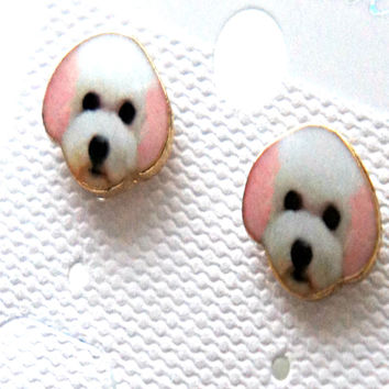 Toy Poodle Stud Earrings