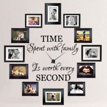 Time Spent With Family is Worth Every Second Wall Decal + Clock