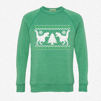 Funny Ugly Christmas T-Rex Sweater fleece crewneck sweatshirt