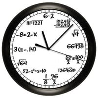 Math Chalkboard Wall Clock by cabgodfrey on Etsy