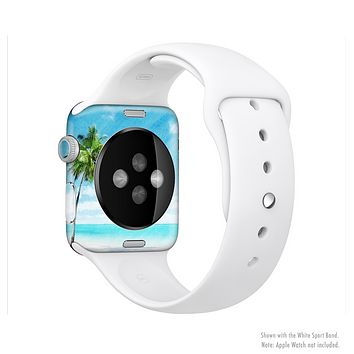 The Paradise Beach Palm Tree Full-Body Skin Kit for the Apple Watch