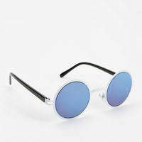 Mirror Mirror Metal Round Sunglasses