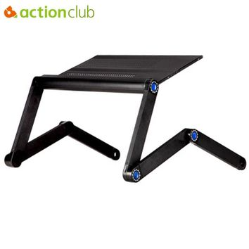 New Aluminum Notebook Folding Desk Bed Computer Desk With Mouse Pad ..