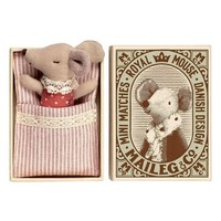 Maileg Sleepy-Wakey Baby Girl Toy Mouse in a Box | Nordstrom