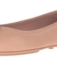 ONETOW Tory Burch Minnie Travel Ballet Flat, Light Oak
