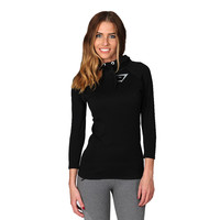 Gymshark Fit Seamless ThermoLite Pullover Top - Black Women's tops | GymShark International | Innovation In Fitness Wear
