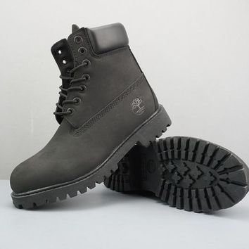 Timberland Leather Lace-Up Boot High Black